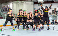 RCRG04.25.16:  Rockin' City Roller Girls B-Team vs Yellow Rose Derby Girls